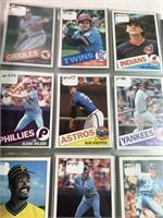 Giant binder of baseball cards