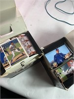Boxes of baseball cards