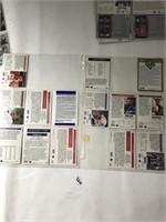 Various Football Cards in Sleeves