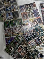 Assorted baseball card binder pages