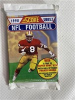 Large lot of unopened Score football cards