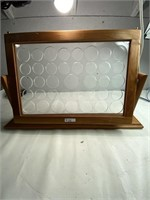 Beautiful wooden coin display holder