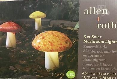 Allen Roth 3 Solar Mushroom Lights Other Items For Sale