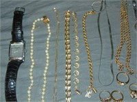 Estate Jewelry Lot. Gold, Silver, Costume.