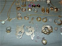 Estate Gold, Silver, Stones an Costume Lot.