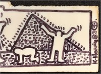 Keith Haring. Marker on Tile.