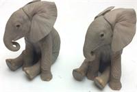 Lenox Fine Porcelain Elephant Sculptures