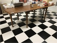 Mixed Wood Drop Leaf Dinning Room Table
