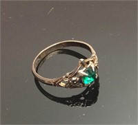 Vintage Sterling Women's Emerald Ring