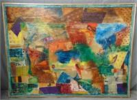 "Dan Gottschalk, Oil on Canvas ""Children at Play"""