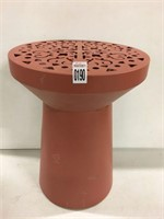 METAL MARTINI GARDEN STOOL, TERRACOTTA