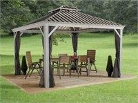 SOJAG MESSINA 10'X10' STEEL ROOF SUN SHELTER