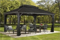 SOJAG MESSINA 12'X16' STEEL ROOF SUN SHELTER WITH