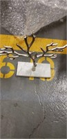 METAL SILVER TREE SCULPTURE WITH MARBLE BASE