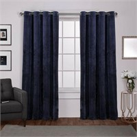EXCLUSIVE HOME 2 GROMMET PANELS VELVET NAVY