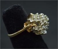 14k Gold 1.5ct Diamond Ring  8 grams