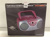 SYLVANIA PORTABLE CD RADIO BOOMBOX