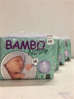 BAMBO NATURE BABY DIAPERS, NEWBORN (4-PIECES)