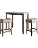 3 PIECE MARBLE DINING SET