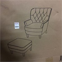 ALTON FURNITURES UPHOLSTERED CHAIR WITH OTTOMAN