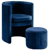 CHAIR WITH CHANNEL TUFTED BACK AND STYLISH