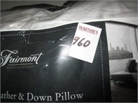 FAIRMONT LUXURY FEATHER AND DOWN PILLOW -