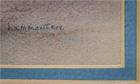 "Art Original Pastel ""Taos Winter"" By M. Hammontree"