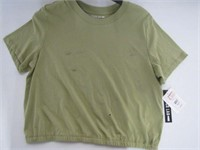 DESIGN LAB SHIRT LADIES SIZE LARGE (SMALL HOLE AND