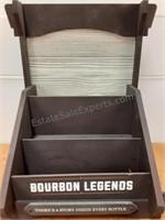 Jim Beam Bourbon Legends Wood Bottle Display