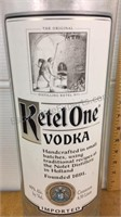 Large Glass Ketel One Vodka Bottle 22""