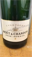 "Large Glass Moët & Chandon Bottle 19"""