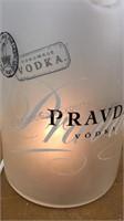 Large Glass Pravda Vodka Light Up Bottle