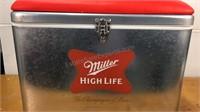 Miller High Life Padded Top Cooler 14x19x11
