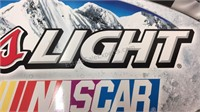 Coors Light NASCAR Metal Sign 18x33