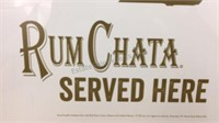 Rum Chata Served Here Michigan Metal Sign 18x18