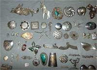 Estate Jewelry Lot. Silver.