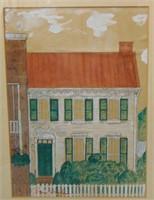 Ben Shahn Architectural Landscape, Watercolor/Ink