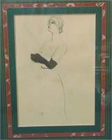 "Toulouse Lautrec Etching, ""Yvette Guilbert"""