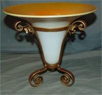 Art Glass Vase in Base.