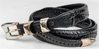 Lot of 3 Men's Fashion Belts Sterling Silver