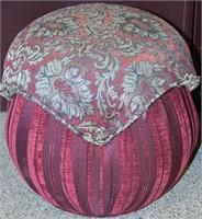 Furniture Pair Upholstered Footstool Ottoman Seat