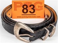BG Mudd Sterling Silver Ranger Buckle / Belt
