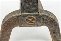Antique Set of Cast Iron Andirons