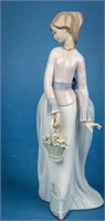 "Retired Lladro Figurine ""Basket of Love"" w/Box"