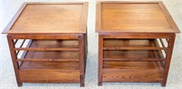 Furniture Pair Mid-Century End Tables