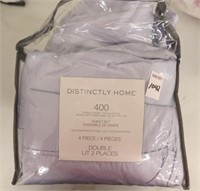 DISTINCTLY HOME 400 THREAD COUNT SHEET SET -DOUBLE