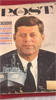 1961 JFK and 1968 Issues of the Saturday Evening