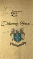 Collection Of Vintage Dinner Menus Marvin Gardens