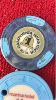 12 Vintage Las Vegas and others 1$ Gaming Tokens