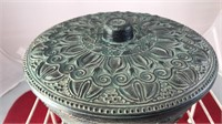 "Vintage Covered Ceramic Bowl 4x8"""